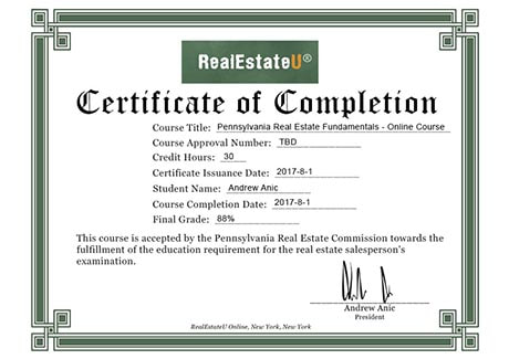Real Estate License PA | Real Estate U