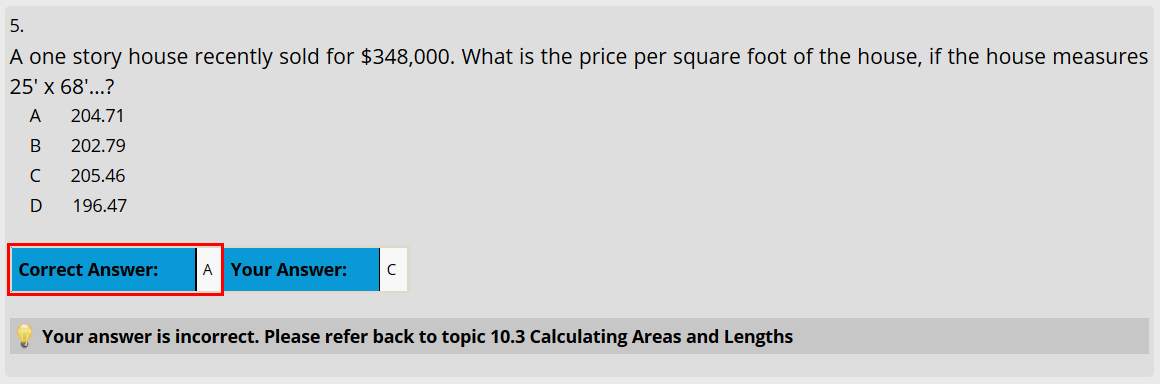 How to check the quiz answers?   Real Estate U
